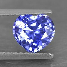 1.22 Cts Natural Certified Top Purple Blue Sapphire Heart Ceylon 6 mm $