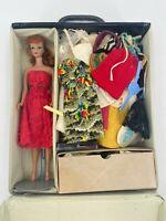 VTG Mattel 1962 Barbie Ponytail Case #5 Barbie With Original Clothing w/ EXTRAS