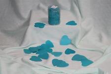 Confettis de scène en forme de coeur bleu turquoise 100 grammes Papier de soie