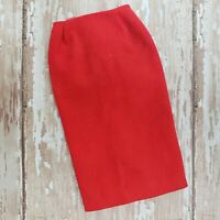 Vintage Barbie #981 Busy Gal Skirt Only Red Linen Pencil Skirt MINT