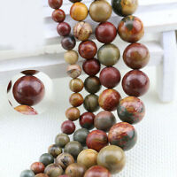 Natural Round Gemstone Loose Spacer Beads Stone Findings 4/6/8/10/12mm