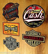 5er US Oldschool Johnny Cash Set Sticker Aufkleber Carter Rod Rockabilly V8 USA