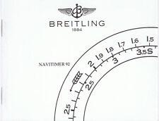 BREITLING NAVITIMER 92 ANLEITUNG INSTRUCTIONS WEISS I400