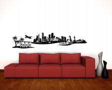 Wandtattoo Miami Skyline Wandaufkleber   25 Farben 8 Größen