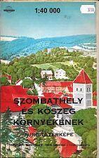 Map of Szombathely, Hungary by Cartographia (Hungarian version)