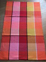 Handmade 90x60 cm Multi-Coloured Stripe Pattern 100%Cotton Lovely Rug/Mat