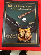 1996 Billiard Encyclopedia by Victor Stein & Paul Rubino, Signed 2nd Ed.