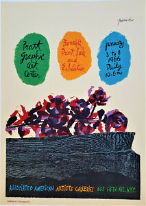ANTONIO FRASCONI Original SIGNED Color WOODCUT Associated American Artists PRATT
