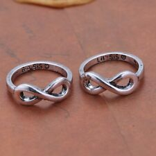 2PCS Double Fashion Ring Big & Litter Sister Friends Infinity jewelry Women Gift