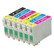 6 Ink Cartridges (Set) for Epson Stylus Photo R220 R320 R350 RX500 RX640