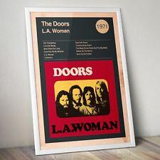 More details for the doors print, jim morrison art print, album & track list poster, wall art