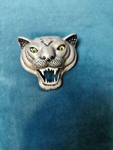 Vintage Tiger Head Brooch  Handcrafted