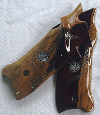 RUGER MKIII TARGET GRIPS EAGLE WINGS & MED's thumb rest & plmswl COCOBOLO A-17