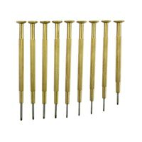 Watchmakers Tools quality set 9 Screwdrivers Brass watch tool