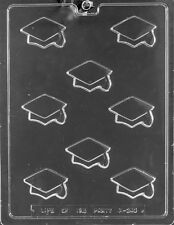 M243 Bite Size Graduation Caps Chocolate Candy Soap Mold with Instructions