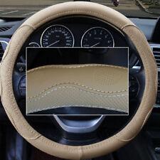 38 cm car steering wheel cover PU Leather No fade Beige Dynamic Fiber all Season