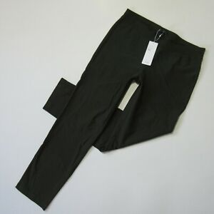 NWT Eileen Fisher Slim Ankle in Woodland Green Washable Stretch Crepe Pants S