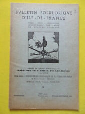 Bulletin Folklorique d'Ile-de-France 7 1959 Sablonnières Hédouville Quincy