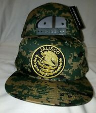 JALISCO  MEXICO LOGO FEDERAL  HAT DIGITAL  GREEN KHAKI SNAP BACK FLAT BUILD