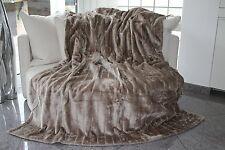 Edle Felldecke Kuscheldecke Nerzoptik Sofadecke Wohndecke Decke 150 x 200 cm