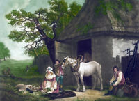 """high quality oil painting handpainted on canvas """"Country Life Farm"""" NO3339"""