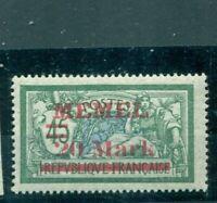 Memel, auf französischer Marke Nr. 39 I postfrisch **