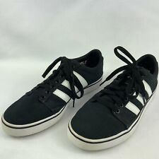 Adidas Mens Size 9 Rayado Black & White Mid Skateboarding Sneakers Sample Shoes