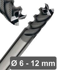 VHM Schruppfräser 4 Zähne -AlTiN Beschichtung Vollhartmetall Fräser HPC geeignet