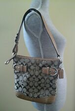 AUTHENTIC COACH HANDBAG BROWN LOGO BAG GREAT CONDITION