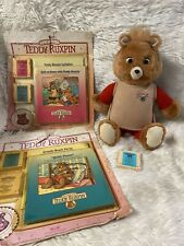 Vintage Teddy Ruxpin + Workout Outfit/Tapes/Books & MORE  100% Works!