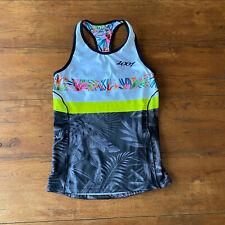 ZOOT Womens Medium LTD Tri Racerback Triathlon Top Shirt Aloha Always M Floral