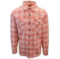 OBEY Men's Strawberry Plaid L/S Flannel Shirt (S25) Medium