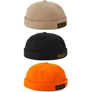 Fashion Hip Hop Docker Pumpkin Cap Women Men Brimless Streetwear Skullcap