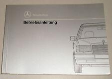 Betriebsanleitung Mercedes Benz W124 Diesel 200 / 250 / 300 D 4Matic, Stand 1991