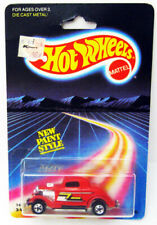 1986 MATTEL HOT WHEELS ZZTOP 3 WINDOW '34 1934 FORD COUPE DIE CAST SEALED CARD