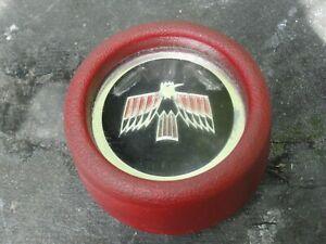 1968 PONTIAC FIREBIRD DELUXE STYLE RED STEERING WHEEL HORN CAP