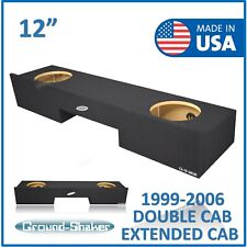 "Chevy Silverado Extended cab 1999-2006 12"" Dual sub box subwoofer Enclosure"