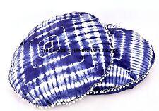 2 PC Floor Cushion Cover Large Mandala Indian Indigo Blue Tie Dye Shibori Cover