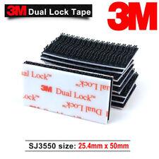 3M SJ3550 3550 Dual Lock Tape Black VHB Adhesive Fastener 25.4mm x 50mm (24 PCS)