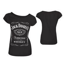 Jack Daniels Classic Old No7 BRAND Logo Wo SKINNY T-shirt M Black (ts230501jds-m