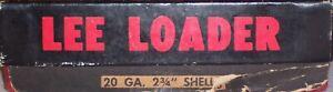"LEE Loader 20 Gauge 2¾"" Shotgun Shell Reloading Equipment Dies"