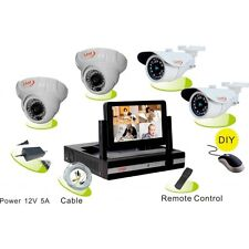"KIT videosorveglianza LKM Security® analogico con DVR e monitor 7"" 2 cam int EST"