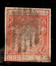 Edifil  25 (º)  2 Reales rojo  Escudo España  1854  DICTÁMEN AUTENTICIDAD  NL303