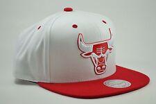 Chicago Bulls JORDAN RETRO White/Red Snapback Mitchell & Ness NBA Hat