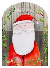 R&E Traditional Advent Calendar - Premium Quality Glitter Finish - Santa's Works