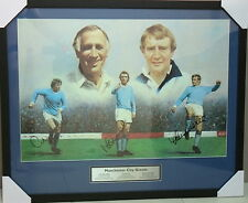 MANCHESTER CITY GREATS MIKE SUMMERBEE, FRANCIS LEE AND COLIN BELL FRAMED PRINT