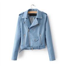 Neueste Damen Bikerjacke PU Leder Jacke Damenjacke Leather Jacket  Color Mix