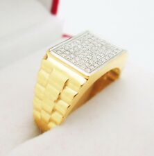 Men's 10K Yellow Gold Ring Rolex Design