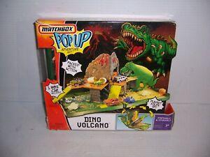 Matchbox Pop Up Dino Volcano Adventure Playset Fold N' Go