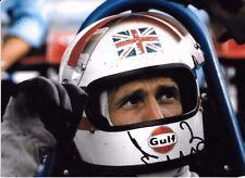 Derek Bell SIGNED, F1 Martini-Tecno PA123 F12, Helmet Portrait 1972
